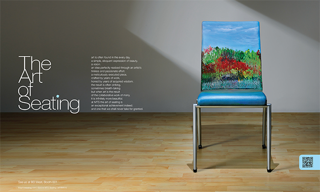 One Of Several Print Ads Introducing The Art Of Seating And The Re Imagined  Chairs.